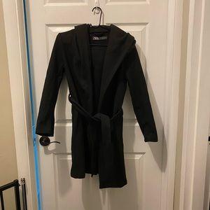 Zara hooded wrap coat - Lightly Worn - SZ XS